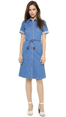 NWOT MiH Jeans Vintage-Inspired 70's Denim Shirt Dress, Size (70s Inspired)