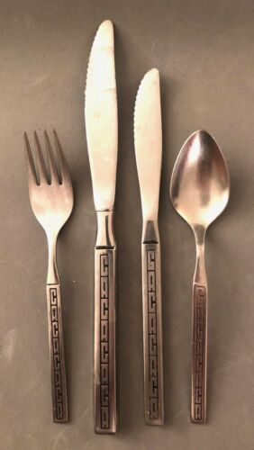 Continental Airlines Stainless Cutlery,  4-Piece Silverware