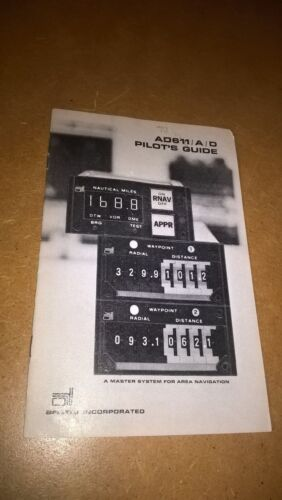 Airdata AD611/a/d Area Naviation Indicator Pilot's Manual guide booklet