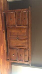 Solid wood 6 Drawer 2 cupboard Buffet
