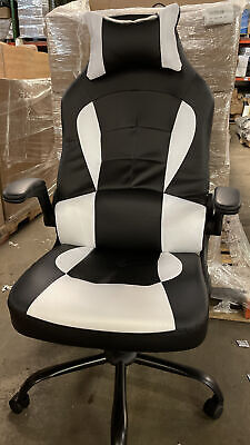 Gaming Office Chair High-back Pu Leather Racing Chair Reclining Computer Chair