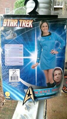 Star Trek Classic TV Series Deluxe Adult Science Uniform Blue Dress SMALL, NEW - Star Trek Blue Dress