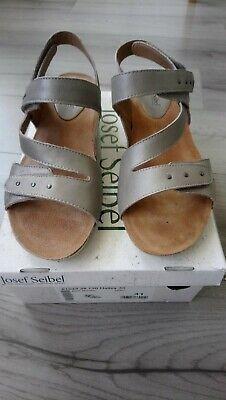 Women's Josef Seibel Hayley Silver Strappy Sandal Size 41/7
