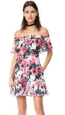 NWT Black Halo Penelope in Flash Dance Floral Ruffle Off-shoulder Dress 4 - Penelope Dress In Black