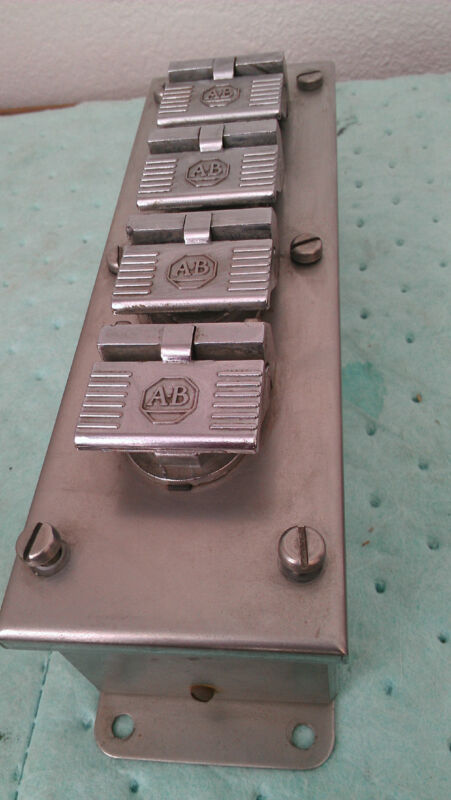 Used Stainless Steel Allen Bradley control station BUL 800  ALA