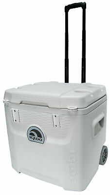 Igloo 52-Quart Marine 5-Day Ice Chest Cooler with Wheels - White