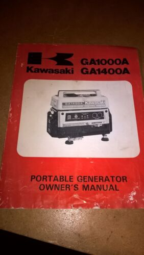 Kawasaki GA1000A GA1400A Portable Generator Owners manual