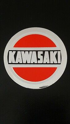 Autocollant sticker vintage publicitaire Kawasaki moto