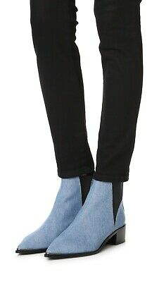 Acne Studios Jensen Blue Denim Booties 37 $500 - Used, Mint Condition