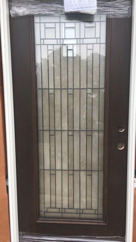 """Pella 36"""" Mahogany Fiberglass LH Front Entry Door"""