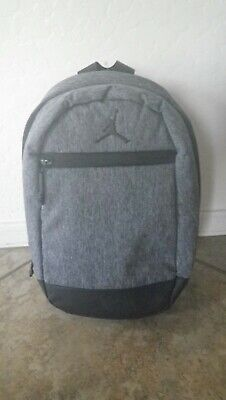 *NEW* Nike Air Jordan Skyline Heather Mini BackPack Carbon Grey Black 7A1958-GEH