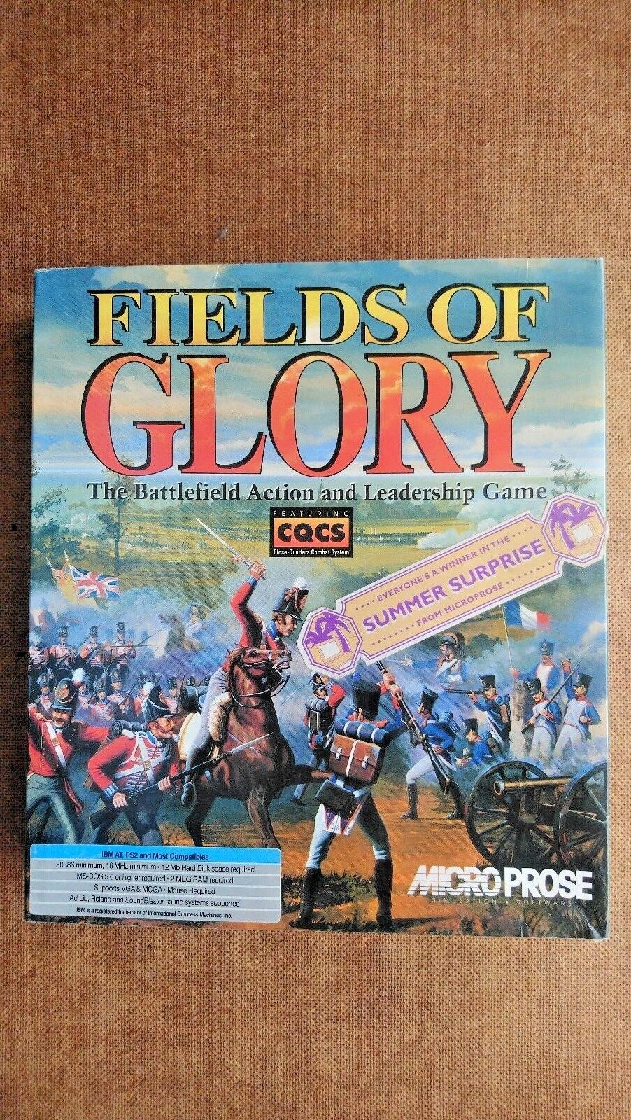 Fields of Glory ( PC IBM 3.5 Disc 1993) - Big Box Edition