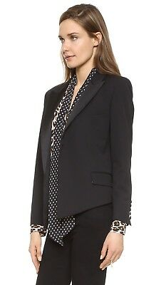 Equipment + Kate Moss Wynne Tuxedo Blazer Black 2 8 10 NWT $598
