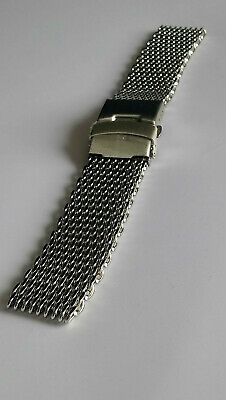 Silver Shark Mesh Bracelets 22mm - UK Seller
