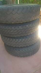 5 X light truck Tyre on split rims Coolbellup Cockburn Area Preview