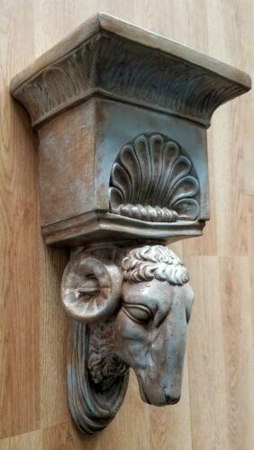 Ram Head Regency Plaster Wall Bracket Corbel Shelf