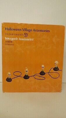 Halloween Luminaries (Dept 56 Halloween Village Accessories Boneyard Luminaries Lights 4038898 New)
