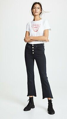 Fray Denim Jeans (MCGUIRE DENIM High Rise Fray Cropped Exposed Button Gainsbourg Jeans 33 $210 #8)