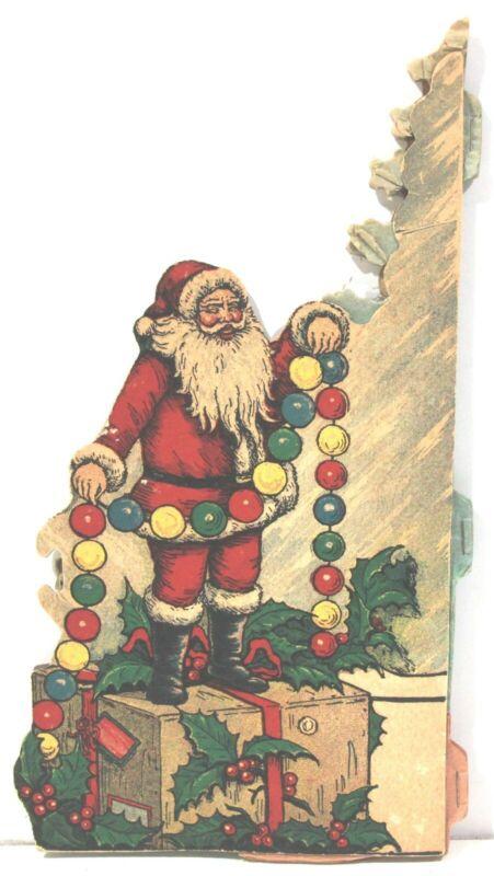 1920-30s Santa Claus & Honeycomb Tree Beistle Christmas Decoration