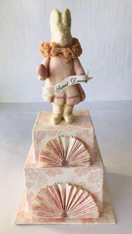 Dee Foust for Bethany Lowe Sweet Dreams Bunny Rabbit Girl Figurine Trinket Box