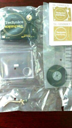 Technics Miniature Collection (SL-1200GLD) + ( Super Rare Lucky LP Record ) Set