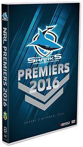 BRAND NEW NRL Premiers 2016 - Cronulla Sharks DVD Grand Final