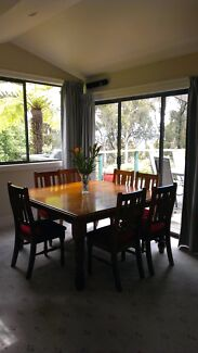 8 seater Baltic Pine dining setting.   Ferntree Gully Knox Area Preview