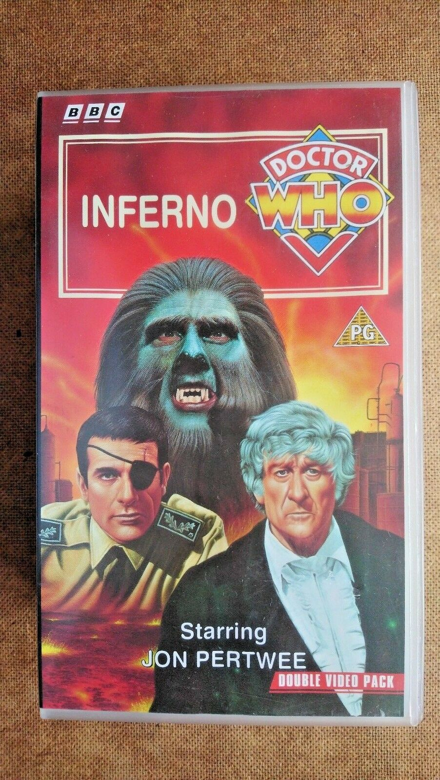 Doctor Who - Inferno (VHS, 1994, 2-Tape Set) - Jon Pertwee - TAPES  SEALED