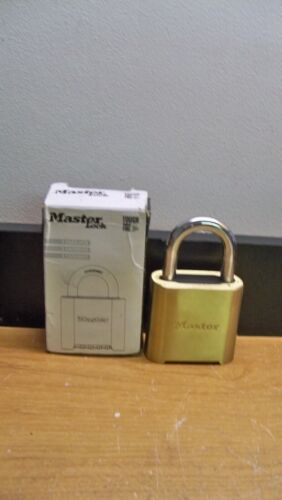 NEW MASTER LOCK 975 BRASS RESETTABLE SET YOUR OWN COMBINATION NO KEY NEEDED