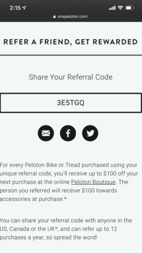 Peloton Coupon Code For 100 OFF - $0.01