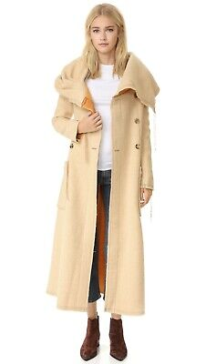 Acne Studios Auden Blanket Coat Size 36 Leather Trim