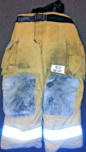 Globe Gxtreme Brown 42x28 Pants Firefighter Turnout Bunker with Suspenders P639