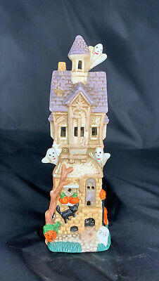 Halloween Haunted House w/ Ghosts Light Up House (No Light Cord)--Used