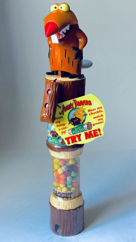 Vintage 1993 Willy Wonka ANGRY BEAVERS Tart N Tinys Candy NICKELODEON Dagget