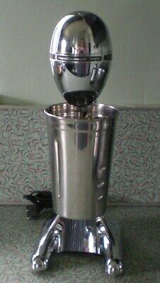 Vtg Kitchen Ready! Gleaming Chrome Hamilton Beach Shake / Smoothie Drink Master