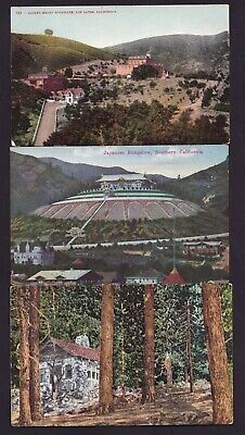 Lot of 3 Old Vintage Postcards of California CA Los Gatos Japanese Bungalow Etc  Old California Postcards