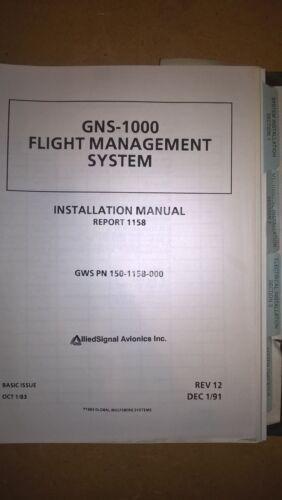 Honeywell Bendix King Global Wulfsburg GNS-1000 Flight Management Install Manual