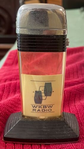 "Vintage Scripto WkBw Radio Buffalo NY Table Lighter 4.5"""