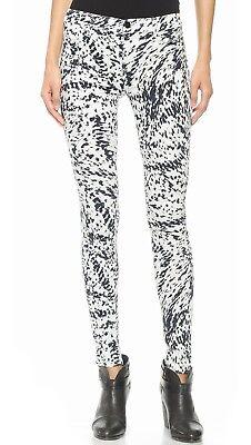 ANTHROPOLOGIE J Brand $218 620 Super Skinny Jeans Mid Rise Labyrinth Print Sz 25