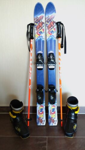 Kinder Ski Set 100 cm inkl Schuhe und Neue Stöcke.