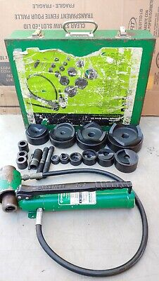 Greenlee 7646 -4 Conduit Hydraulic Knockout Punch Set 767 Pump 746 Ram Clean
