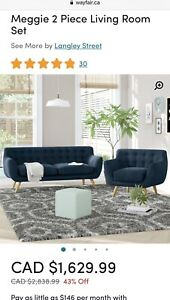 Bran New 2 piece sofa couch set
