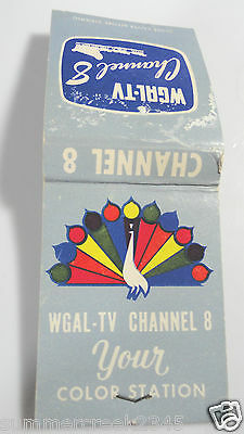 Wgal Tv  Channel 8  Pennsylvania  Matchbook Cover