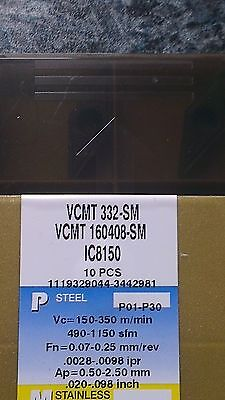 Iscar Vcmt 160408-sm Ic8150 - 10 Inserts