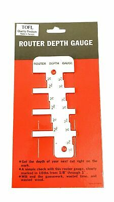 Tofl Router Depth Gauge-step Gauge Tool For Woodworking Projects Fast Easy