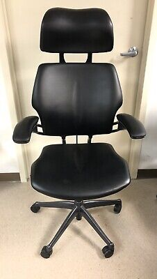Leather Humanscale Freedom Task Chair With Headrest.