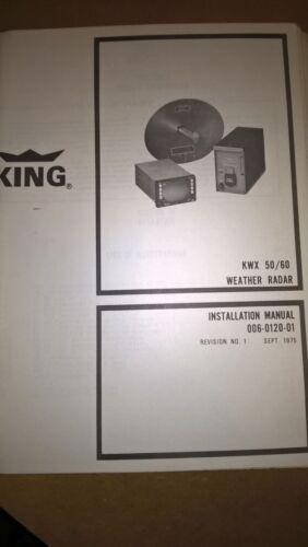 Bendix King KWX 50/60 Weather Radar maintenance Install Overhaul Service manual