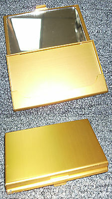 Tz Case Business Card Holder With Mirror All Metal Pocket Size Gold Anc002g