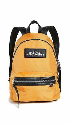 Marc Jacobs Logo Patch Medium Woven Nylon Unisex Backpack,Yellow