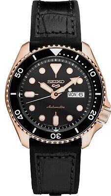 Seiko 5 Sports 24-Jewel 42.5mm Automatic Men's Watch - Rose Gold